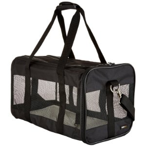 Roll over image to zoom in AmazonBasics Soft-Sided Pet Travel Carrier