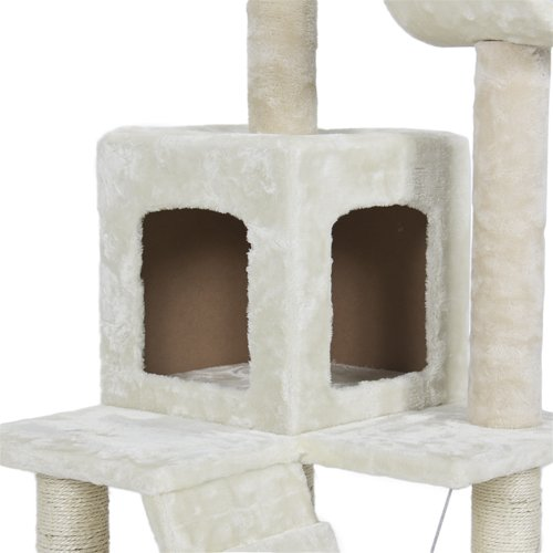 52-Inch Cat Tree Tower Condo Scratcher Furniture Kitten House Hammock