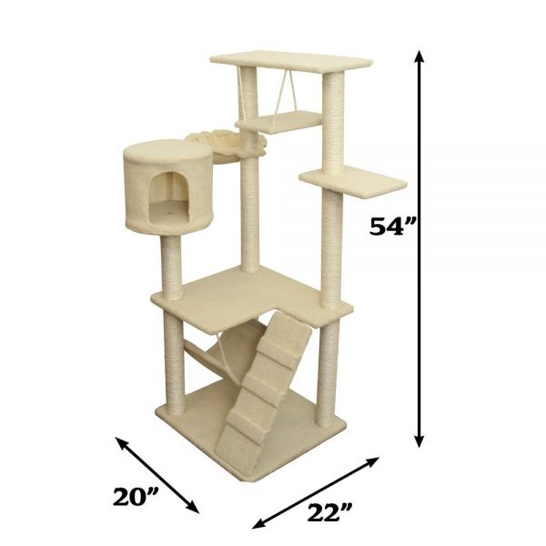 Deluxe Condo Furniture Multi-level Tower with Scratching Post and Toys