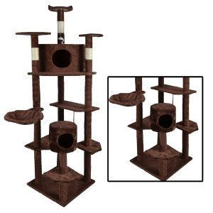 BestPet 2014 Cat Tree Condo Furniture Scratch Post Pet House, Brown, 80-Inch
