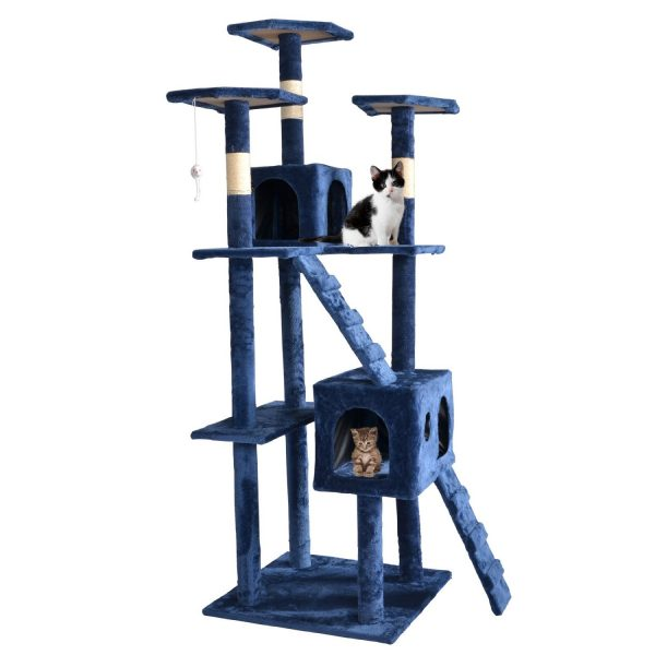 """73"""" Cat Tree Scratcher Play House Condo Furniture Bed Post Pet House"""
