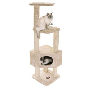 Casita Cat Furniture Condo House Scratcher Multi Level Pet Activity Tree