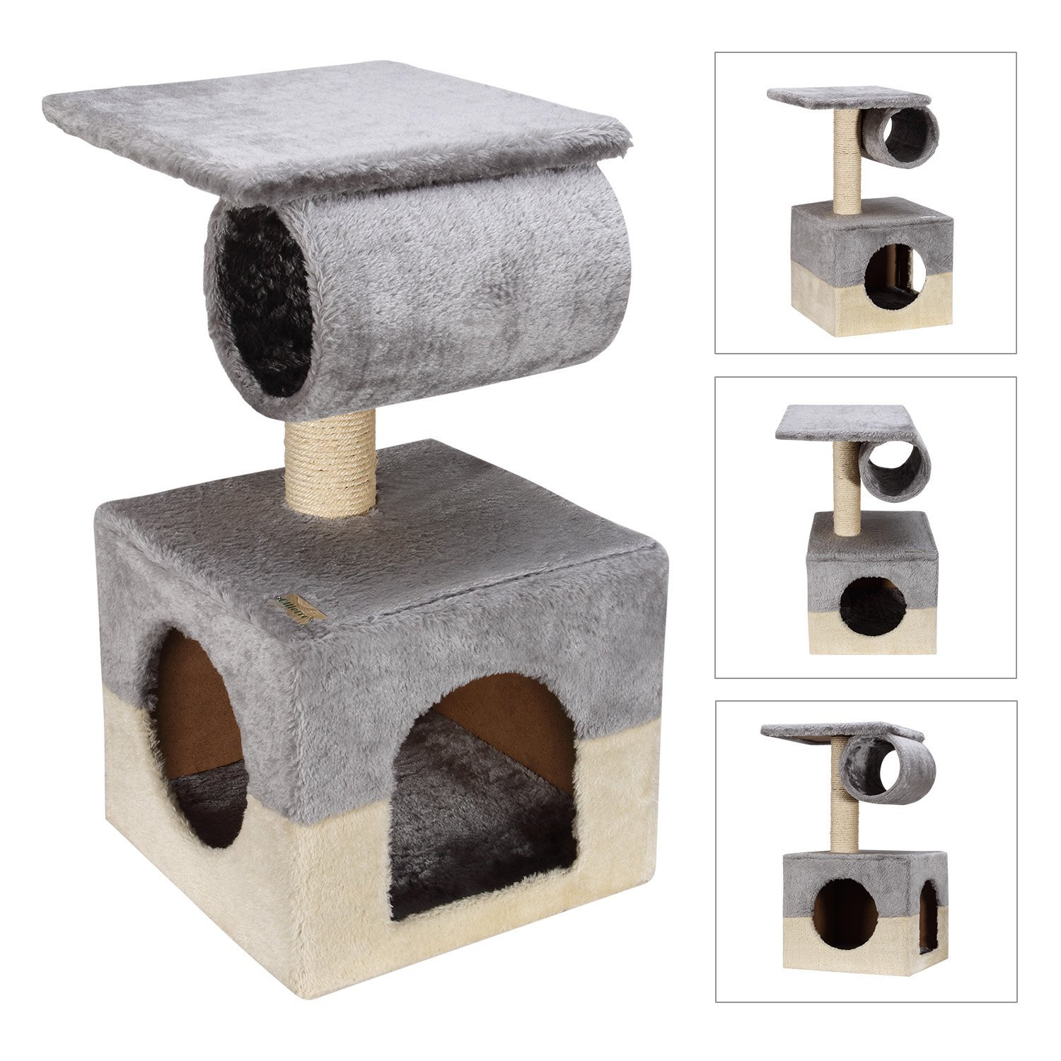 "Ollieroo® 22"" Cat Tree Condo Furniture Scratching Post Small Kitten House Tree Condo Cube Small Great for Kittens"