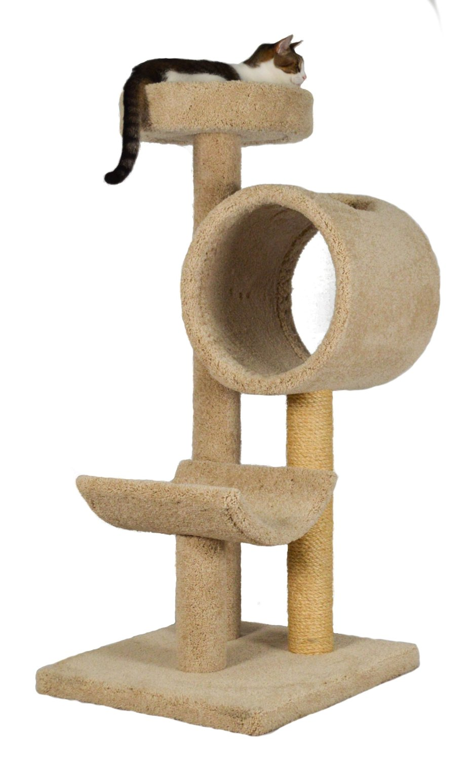 Molly and Friends Bed/Cradle and Tunnel Cat Tree - 54 in.
