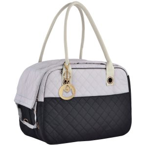 MG Collection 2 Tone Quilted Travel Cat Carrier Tote