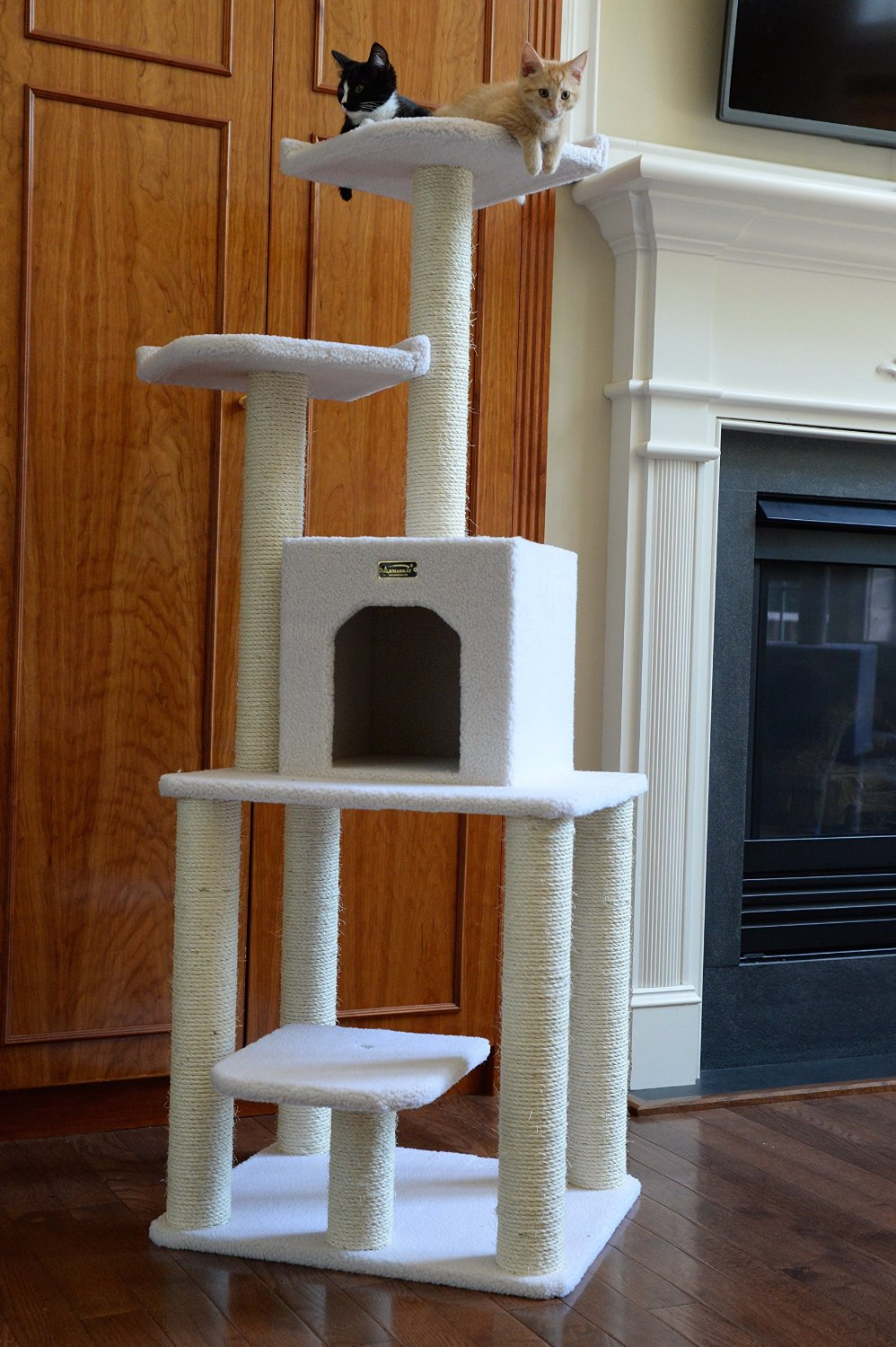 armarkat cat tree furniture condo height 60 inch to 70. Black Bedroom Furniture Sets. Home Design Ideas
