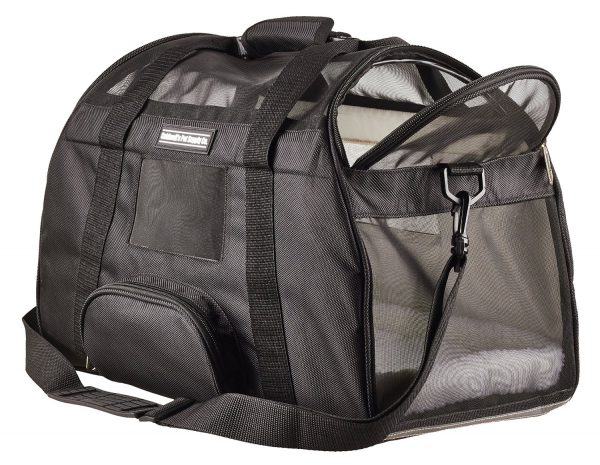Caldwell's Pets Supply Co. Deluxe Soft-sided Airline Approved Airport Pet Carrier Travel Bag - Under Seat Carry-on for Cats