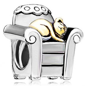 Cat in chair Pandora bead