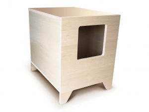 CURIO Modern Cat Litter Box in Maple