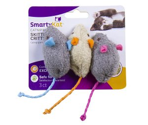 SmartyKat Skitter Critters Cat Toy Catnip Mice