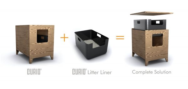CURIO MModern Cat Litter Box in Maple