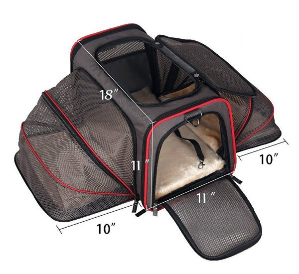Airline Approved Pet Peppy Two Side Cat Carrier