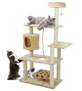 Furhaven Tiger Tough Cat House Furniture Condo Cat Tree Playground