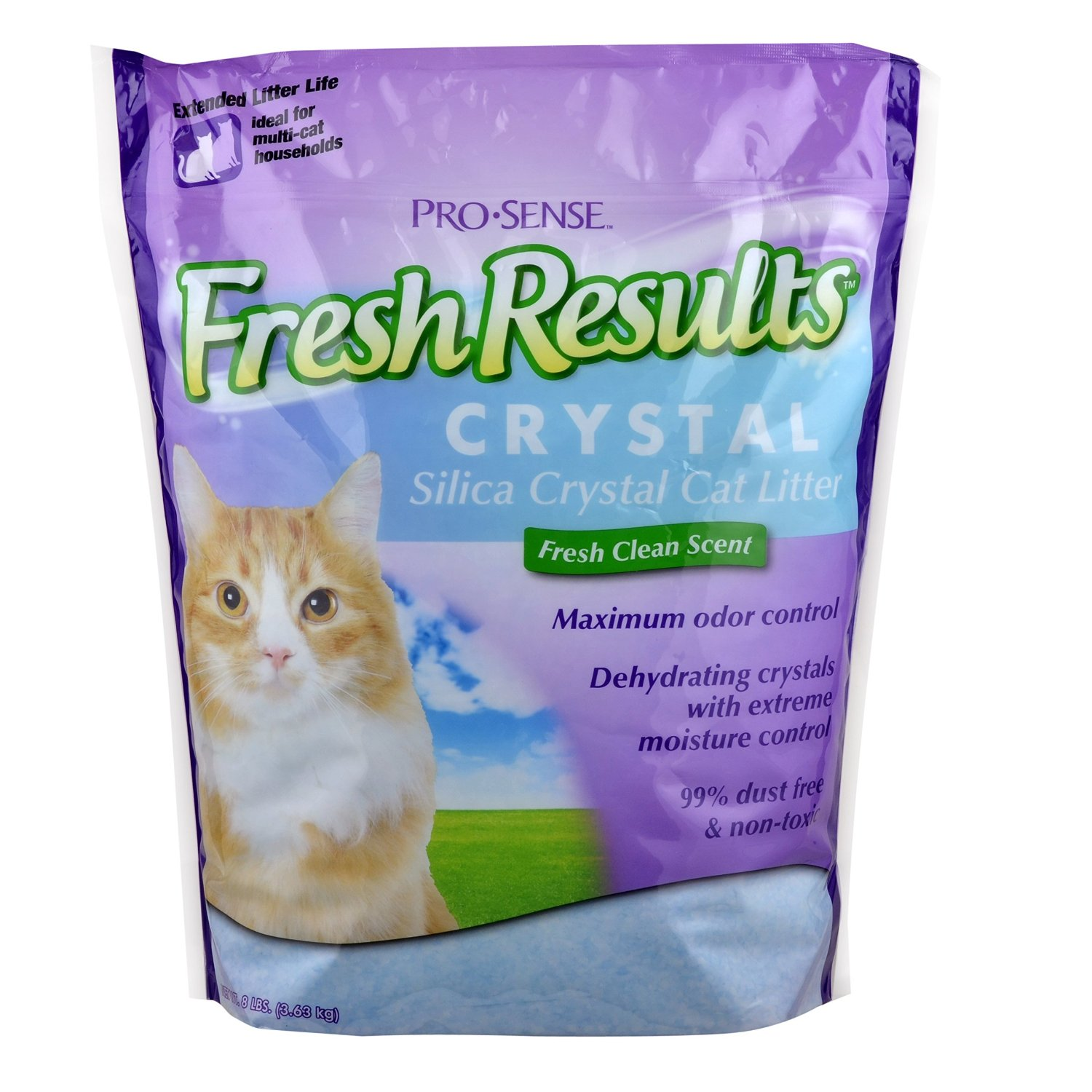 Pro-Sense Fresh Results Crystal Silica Cat Litter, 8-Pound
