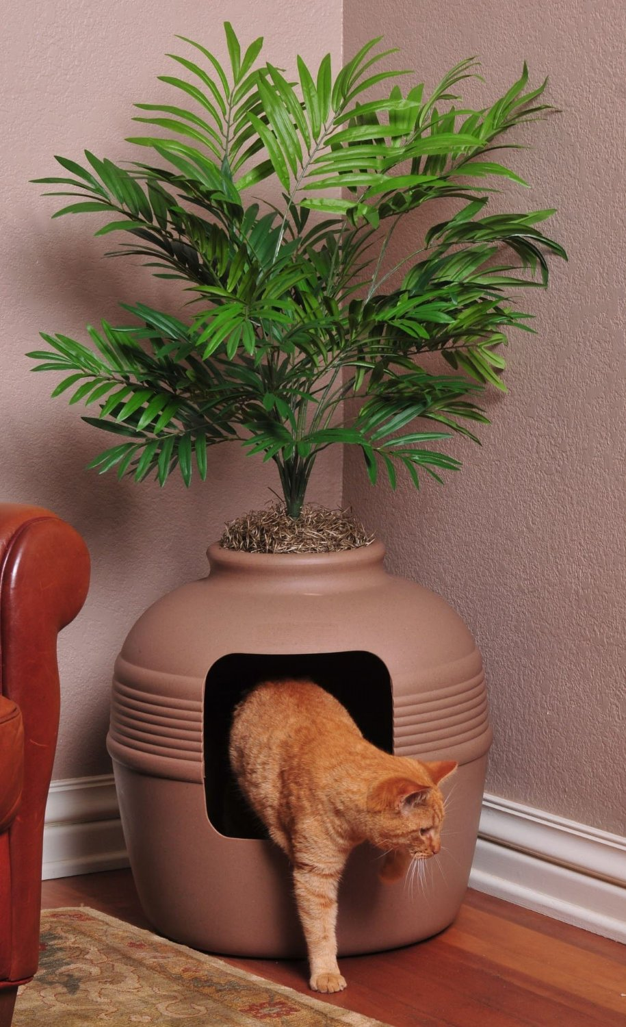 hidden litter box planter