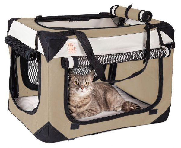 "Soothing ""Happy Cat"" Cat Carrier w/ Comfy Plush Sleep Pillow"