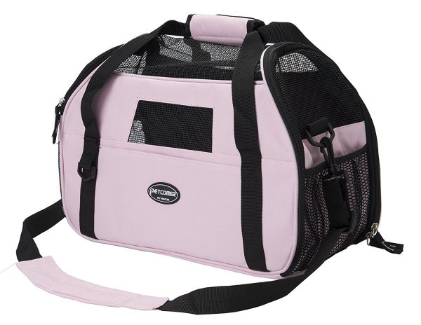 Pettom Pet Carrier for Dogs & Cats Comfort Airline Approved Travel Tote