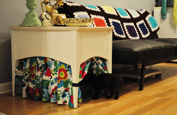 end table cat box