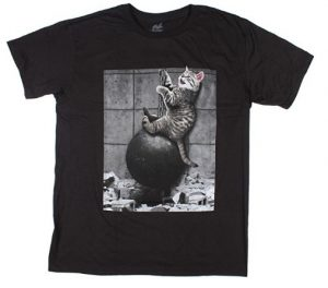 Kitty Cat Wrecking Ball Graphic T-Shirt
