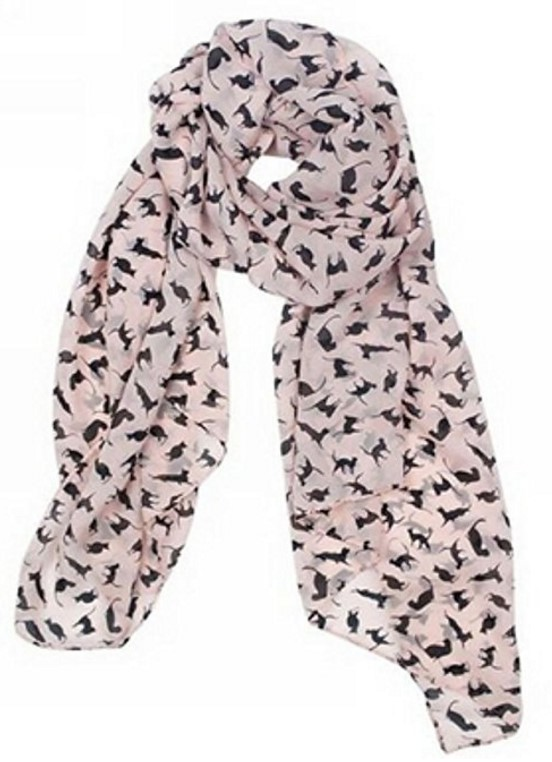 women's chiffon cat scarf
