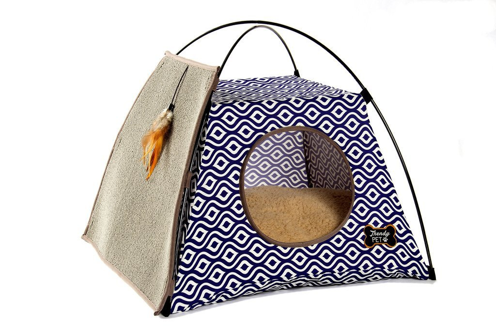 See More · Trendy Pet Cat Tent with Attached Cat Scratcher  sc 1 st  Crazy Cat Lady Supplies & Pawhut Banana-Leaf Condo Pod Elevated Cat Bed - Crazy Cat Lady ...