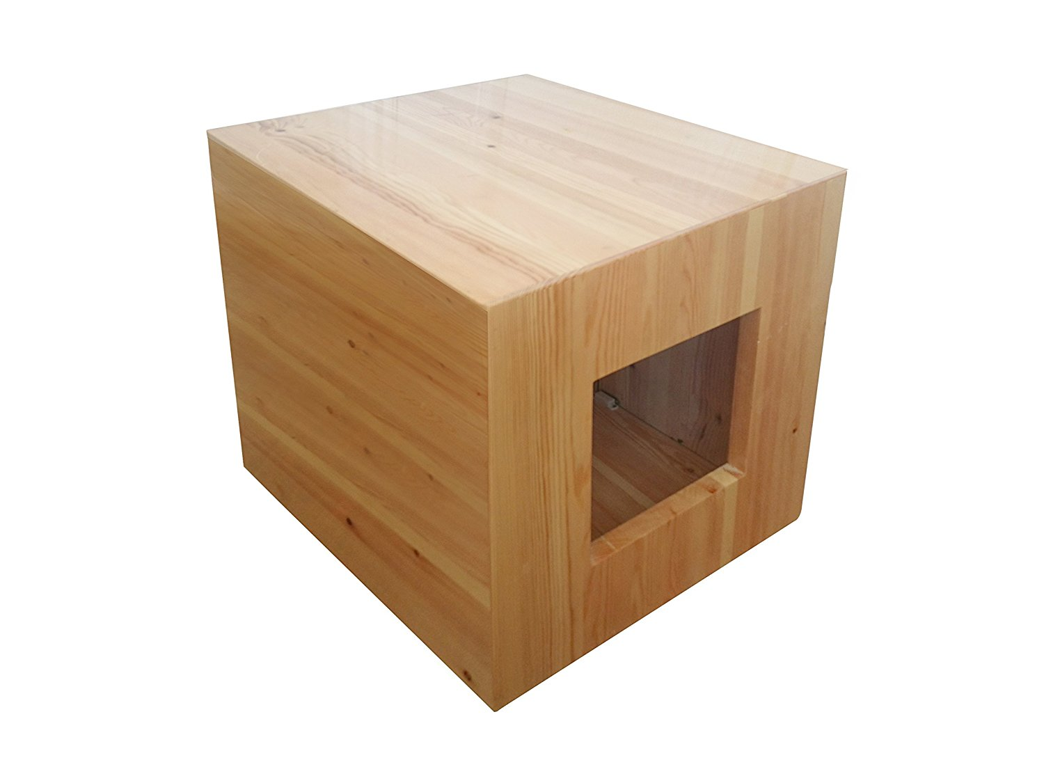 Philociety fully assembled enclosure cat litter box for Furniture box