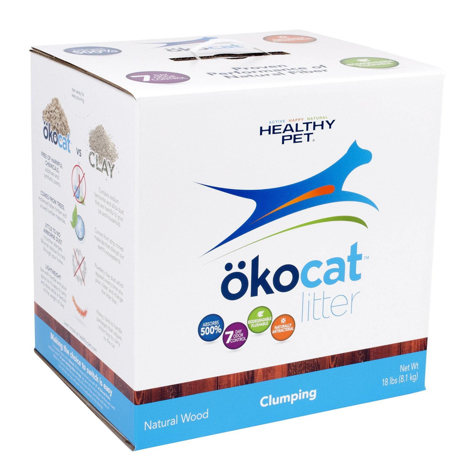 ökocat Natural Wood Cat Litter, Clumping